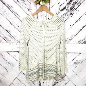 Free People Buttoned Down Cardi Hood S